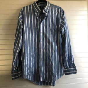 Lands End striped button down
